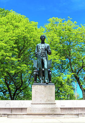 Photograph - Lincoln Monument Chicago by John Rizzuto