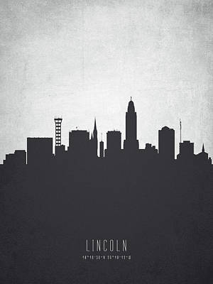 Lincoln Nebraska Cityscape 19 Art Print by Aged Pixel