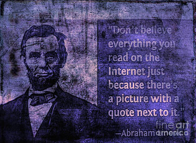 Photograph - Lincoln On The Internet by Todd Breitling
