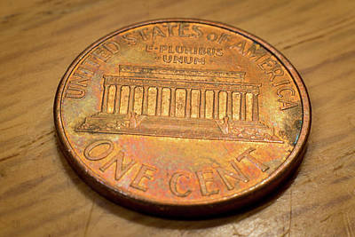 Photograph - Lincoln Penny by Geoffrey Lewis