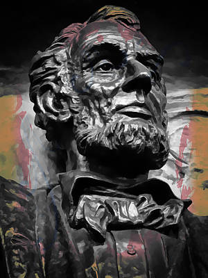 Washington D.c Digital Art - Lincoln Stoic by Daniel Hagerman