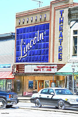Photograph - Lincoln Theatre Fayetteville Tennessee Hdr Art by Lesa Fine