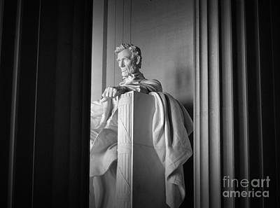 Photograph - Lincoln Through The Columns by Nadalyn Larsen