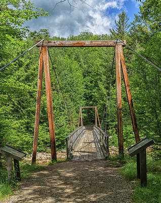 Photograph - Lincoln Woods Trail Bridge by Brian MacLean