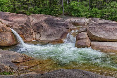 Photograph - Lincoln Woods Trail Waterfalls by Brian MacLean