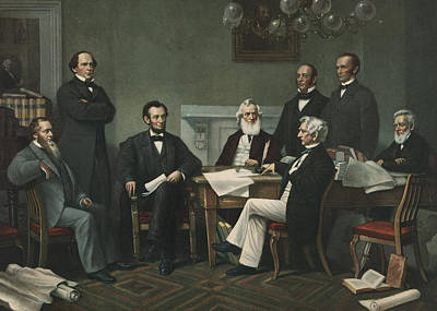 Politicians Painting - Lincoln's Cabinet by Francis Bicknell Carpenter