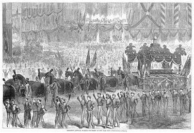 Lincolns Funeral, 1865 Art Print by Granger