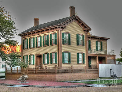 Photograph - Lincoln's Home by David Bearden