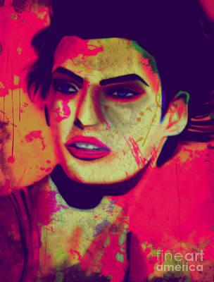 Andywarhol Painting - Linda Evangelista Pop Art Pur by Felix Von Altersheim