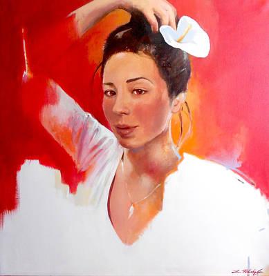 Lin Painting - Linda Lightbody by Lin Petershagen