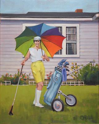 Back Yard Painting - Linda by Todd Baxter