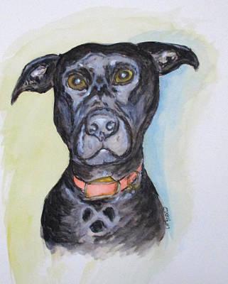Linda's Doggie Art Print by Clyde J Kell