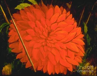 Painting - Linda's Red Dahllia by Mary Erbert