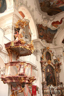 Photograph - Lindau Cathedral Decor by Frank Townsley