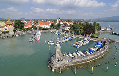Photograph - Lindau Harbor Lake Constance Germany by Matthias Hauser