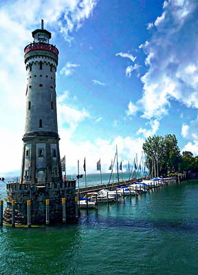 Photograph - Lindau Lighthouse by Anthony Dezenzio