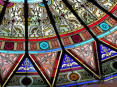 Photograph - Linderman Stained Glass Detail by Jacqueline M Lewis