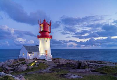 Lindesnes Fyr - Lighthouse In The South Of Norway Art Print by Georgy Krivosheev