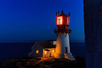 Lindesnes Lighthouse Art Print by Arve Sirevaag