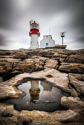 Lindesnes Lighthouse - Norway - Travel Photography Art Print by Giuseppe Milo