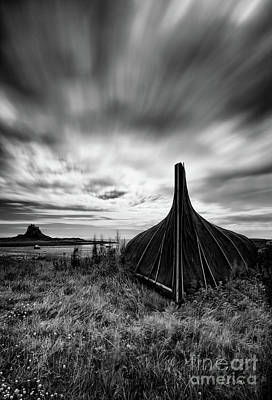 Lindisfarne Photograph - Lindisfarne Boat Shed by John Farnan