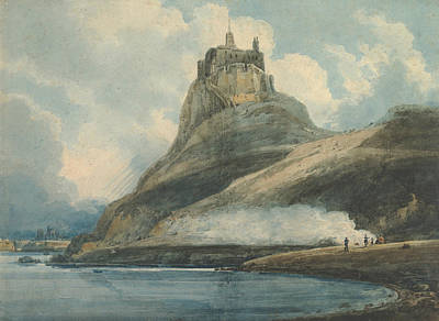 Drawing - Lindisfarne Castle, Holy Island, Northumberland by Thomas Girtin