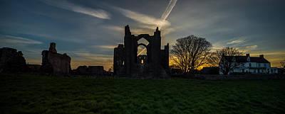 Western Art - Lindisfarne Priory Northumberland by Dave Hudspeth