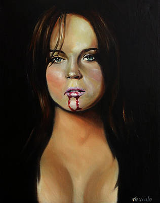 Lindsay Lohan Print by Matt Truiano