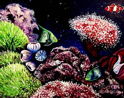 Painting - Lindsay's Aquarium by Elizabeth Robinette Tyndall