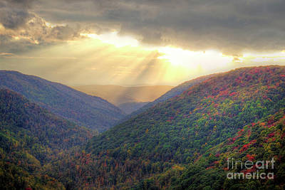 Photograph - Lindy Point Sunset West Virginia II by Karen Jorstad