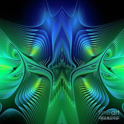Art Print featuring the digital art Line Art by Jutta Maria Pusl