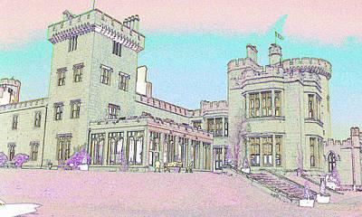 Line Art Of Dromoland Castle Art Print