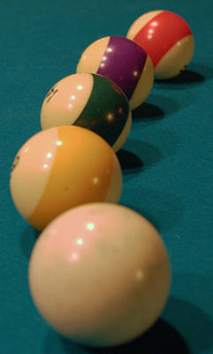 Cue Ball Photograph - Line 'em Up by Karen Musick