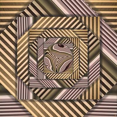 Digital Art - Line Geometry by Ron Bissett