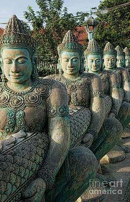 Asian Cultural Art Photograph - Line Of Buddhas by Bill Bachmann - Printscapes