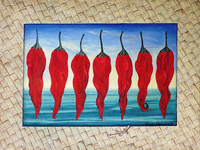 Painting - Line Of Fire by Sharon Ebert