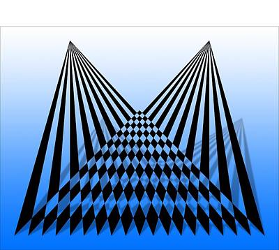 Digital Art - Line Overlapping T-shirt by Isam Awad