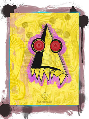 Painting - Line Tooth Monster by Yeah Nothing