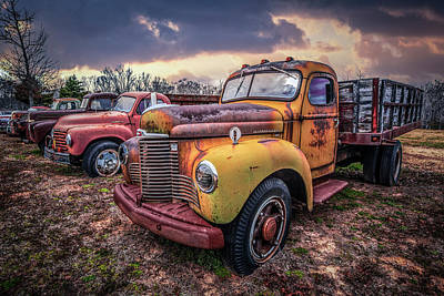 Photograph - Line Up Of Cool Trucks by Debra and Dave Vanderlaan