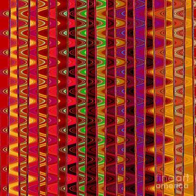 Digital Art - Line Waves by Susan Stevenson
