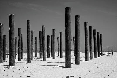 Photograph - Linear Beach Formation  by Toni Hopper
