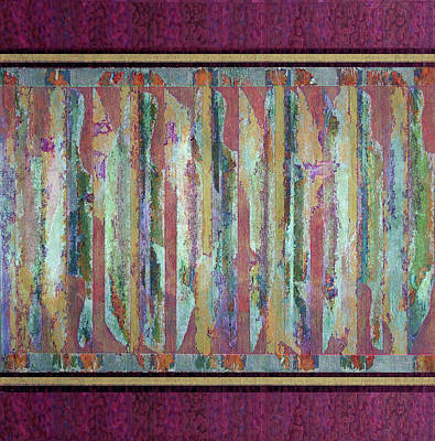 Polymer Painting - Linear Expression Xi-iix-iii by George Facelo