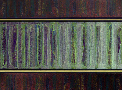Polymer Painting - Linear Expression Xi-ix-v by George Facelo