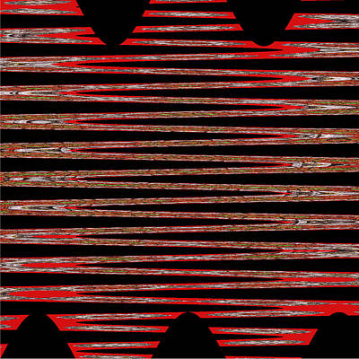 Linear Lesson In Black And Red Art Print