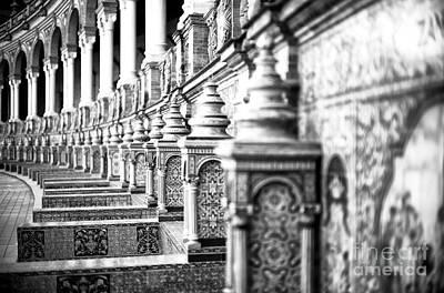 Photograph - Lined Up At Plaza De Espana by John Rizzuto