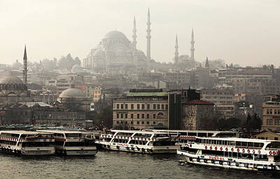 Galleries On Line Photograph - Lined Up On The Bosphorus by John Rizzuto