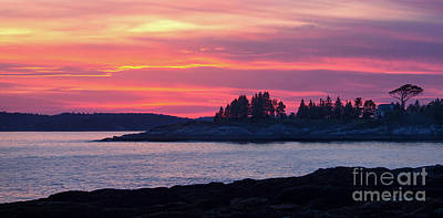 Photograph - Linekin Bay Sunset, East Boothbay, Maine  -23146-23148 by John Bald