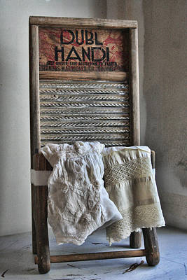 Folkart Photograph - Linen And Lace by Marcie  Adams