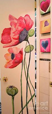 Painting - Linen Closet Door by Susan Herber
