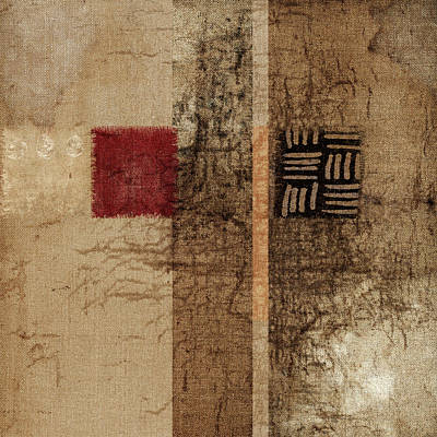 Fabric Collage Photograph - Linen Weave by Carol Leigh